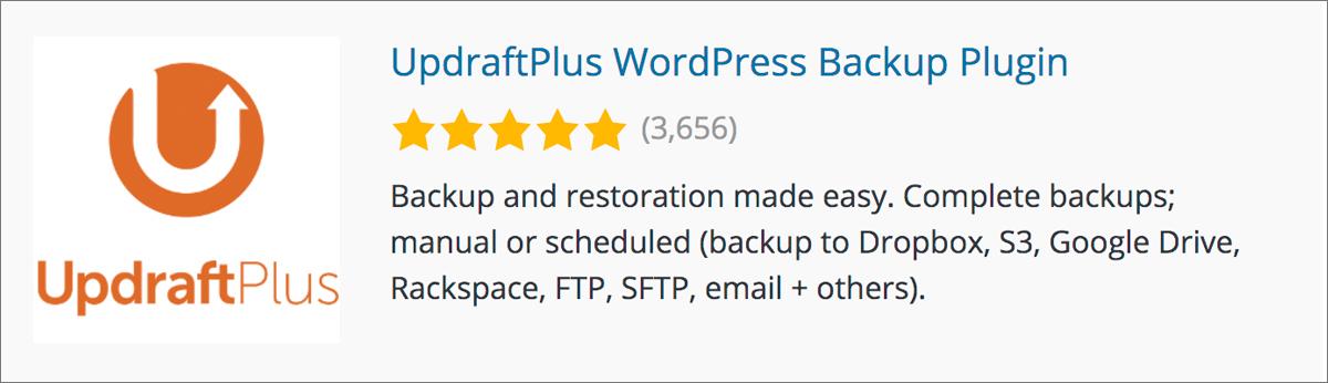 ワードプレスブログのプラグイン初心者向け【おすすめ11選】UpdraftPlus WordPress Backup Plugin
